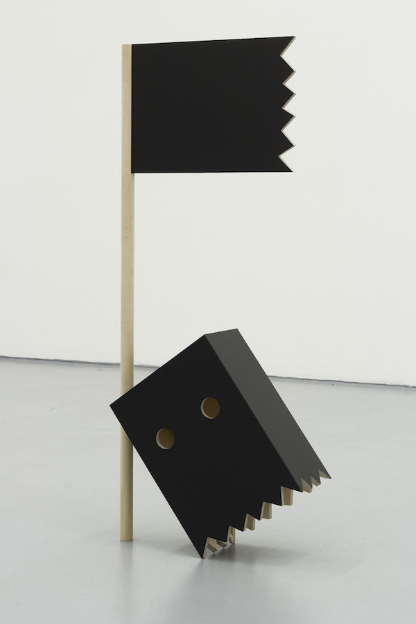 Black Flag,  wood, acrylic laminate, 47 x 20 x 7 inches, 2013. Image courtesy the artist and Fourteen30 Contemporary.